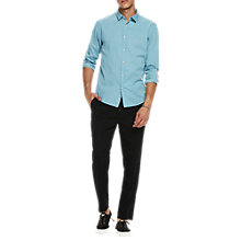 Buy Scotch & Soda Structured Cotton Printed Shirt, Blue Online at johnlewis.com