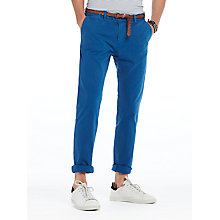 Buy Scotch & Soda Stuart Peached Twill Chinos, Royal Online at johnlewis.com