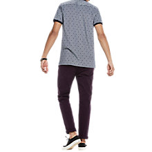Buy Scotch & Soda Polka Dot Contrast Tipped Polo Shirt, Blue Online at johnlewis.com