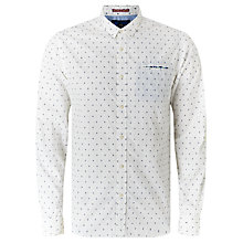 Buy Scotch & Soda Long Sleeve Fixed Pochet Shirt, White Online at johnlewis.com