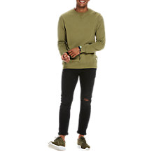Buy Scotch & Soda Garment-Dyed Sweatshirt, Military Online at johnlewis.com