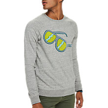 Buy Scotch & Soda Sunglasses Crew Neck Sweatshirt, Grey Melange Online at johnlewis.com