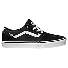 Buy Vans Chapman Stripe Suede Trainers, Black/White Online at johnlewis.com