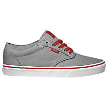 Buy Vans Atwood Canvas Trainers, Frost Grey/Red Online at johnlewis.com