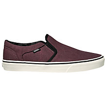 Buy Vans Asher Slip-On Shoes, Port Online at johnlewis.com