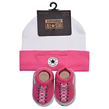 Buy Converse Baby Chuck Patch Hat & Bootie Set, One Size Online at johnlewis.com