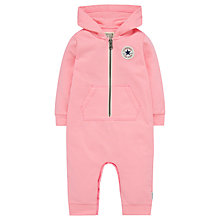 Buy Converse Baby Core Hooded Onesie, Pink Online at johnlewis.com