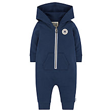 Buy Converse Baby Core Hooded Onesie, Navy Online at johnlewis.com