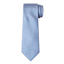 Buy John Lewis Boys' Puppytooth Tie, Blue/White Online at johnlewis.com