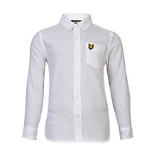 Buy Lyle & Scott Boys' Oxford Shirt, White Online at johnlewis.com
