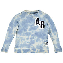 Buy Angel & Rocket Boys Tie Dye Sweatshirt, Blue Online at johnlewis.com