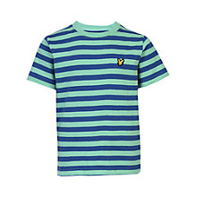 Buy Lyle & Scott Boys' Micro Stripe T-Shirt, Green Online at johnlewis.com