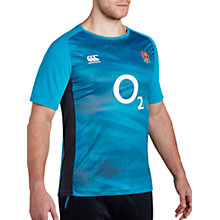Buy Canterbury of New Zealand Short Sleeve England Training Rugby Shirt, Blue Online at johnlewis.com