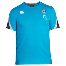 Buy Canterbury of New Zealand Short Sleeve England Training Rugby T-Shirt, Blue Online at johnlewis.com