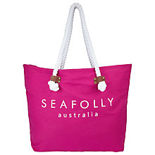 Buy Seafolly Carried Away Ship Sail Tote Bag, Pink Orchid Online at johnlewis.com