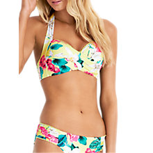 Buy Seafolly Island Vibe Soft Cup Halter Bikini Top, Splice/Multi Online at johnlewis.com