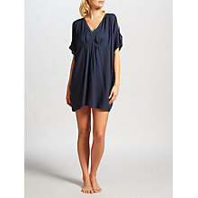 Buy John Lewis Beaded Cold Shoulder Dress, Navy Online at johnlewis.com