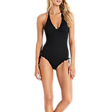 Buy Seafolly Havana Deep V-Neck Swimsuit, Black Online at johnlewis.com