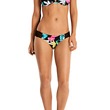 Buy Seafolly Island Vibe Crochet Bikini Bottoms, Black/Multi Online at johnlewis.com