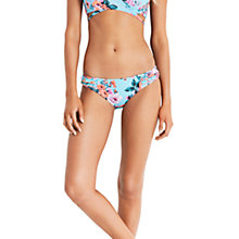 Buy Seafolly Vintage Wildflower Hipster Bikini Bottoms, Iceberg Online at johnlewis.com