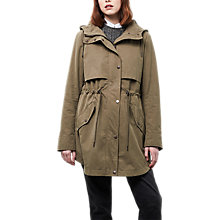 Buy Parka London Freya Essential Twill Parka, Soft Green Online at johnlewis.com
