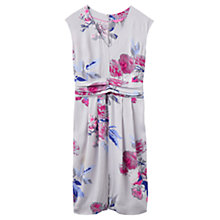 Buy Joules Eleanor Printed Dress, Soft Grey Bloom Online at johnlewis.com