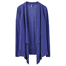 Buy Joules Fran Linen Cardigan, Pool Blue Online at johnlewis.com
