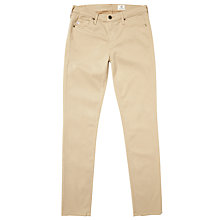 Buy AG The Sateen Prima Skinny Jeans, Sandalwood Online at johnlewis.com