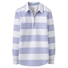 Buy Joules Clovelly Pop Over Shirt, Blue Stripe Online at johnlewis.com