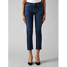 Buy AG The Isabelle Straight Jeans, 7 Years Preen Online at johnlewis.com
