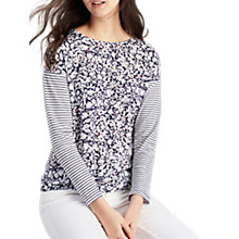 Buy Joules Mixie Drop Shoulder Top, Blue Floral Stripe Online at johnlewis.com