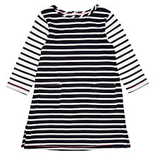 Buy Jigsaw Girls' Breton Stripe Dress, Navy/White Online at johnlewis.com