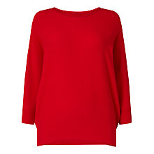 Buy Phase Eight Becca Batwing Jumper, Red Online at johnlewis.com