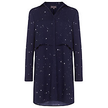 Buy Phase Eight Hailey Star Print Tunic, Navy Online at johnlewis.com
