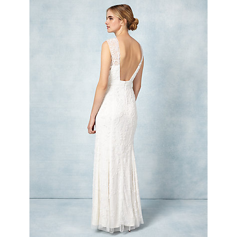 Buy Phase Eight Bridal Ella Rose Wedding Dress, Ivory Online at johnlewis.com