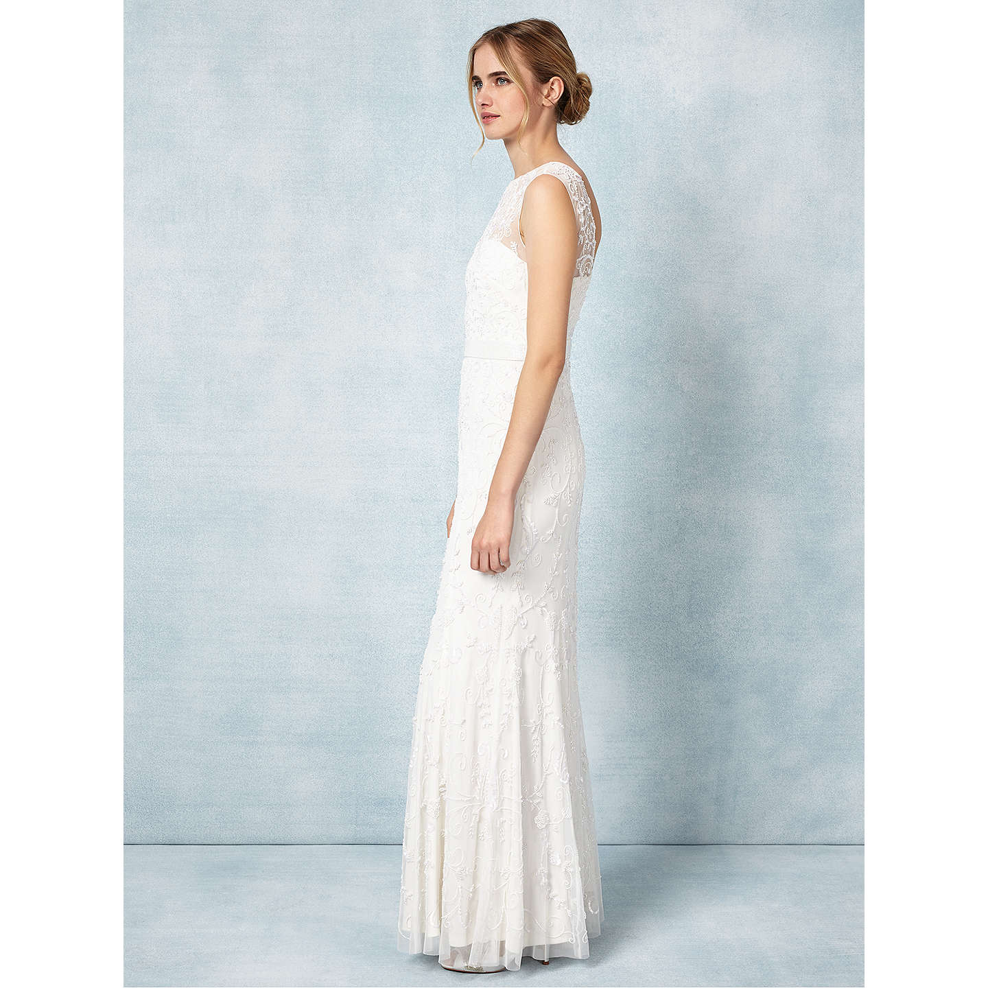 Phase Eight Bridal Ella Rose Wedding Dress, Ivory at John Lewis