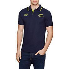 Buy Hackett London Aston Martin Racing Wings Polo Shirt, Navy Online at johnlewis.com