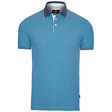 Buy Hackett London Woven Trim Polo Shirt Online at johnlewis.com