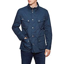 Buy Hackett London Velospeed Water-Repellent Cotton Coat, Navy Online at johnlewis.com