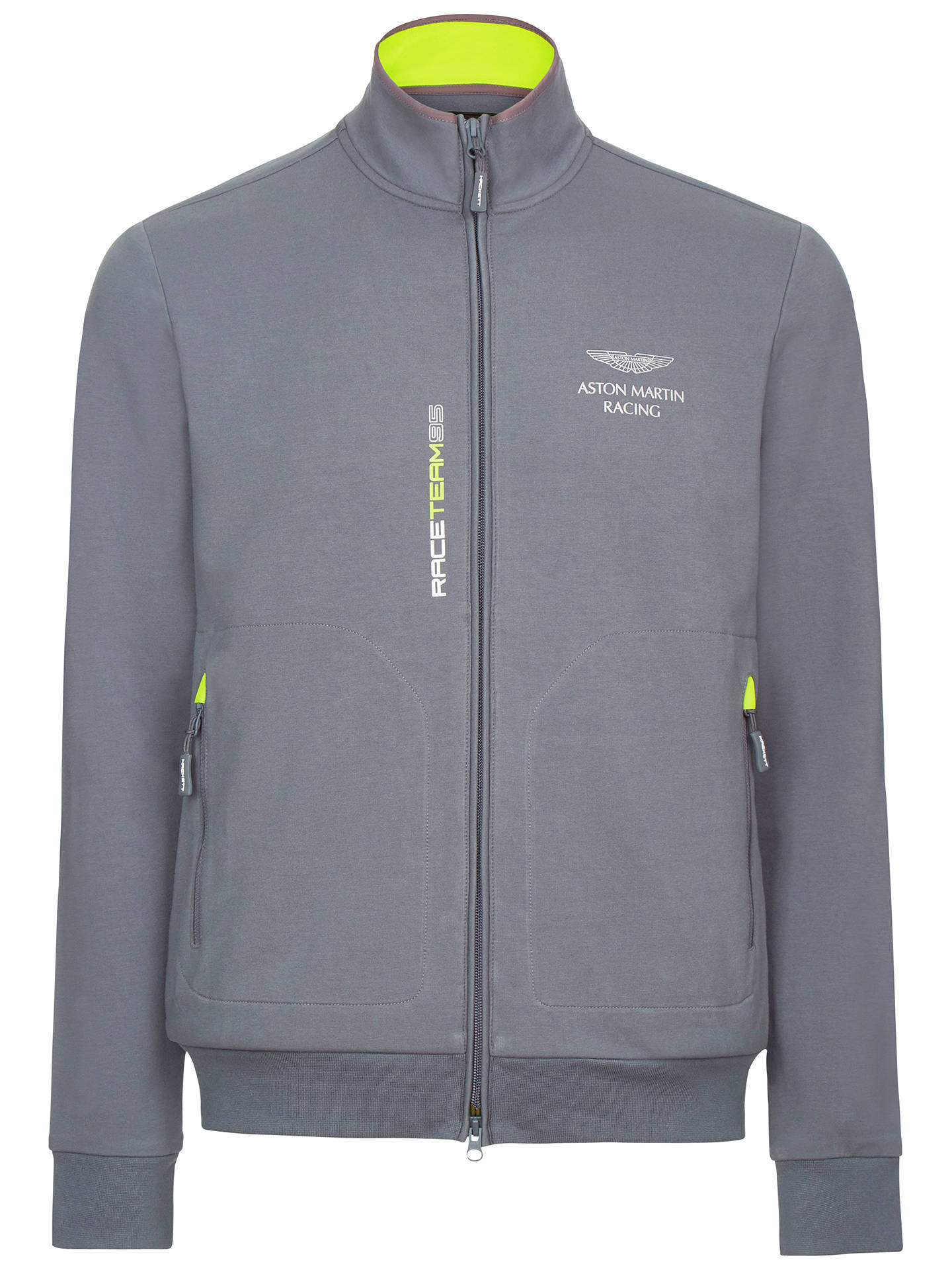 Hackett London Aston Martin Racing Full Zip Hooded Jacket Steel