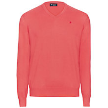 Buy Hackett London Pima Cotton V-Neck Jumper Online at johnlewis.com