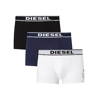 Diesel Shawn Mohawk Print Trunks, Pack of 3, Black/Navy/White