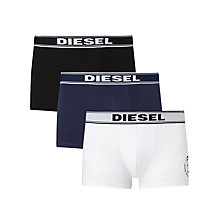 Buy Diesel Shawn Mohawk Print Trunks, Pack of 3, Black/Navy/White Online at johnlewis.com