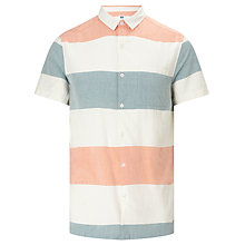 Buy Kin by John Lewis Block Stripe Bowling Shirt, Multi Online at johnlewis.com