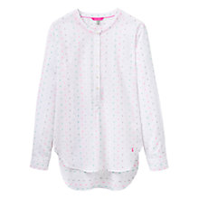 Buy Joules Nicola Grandad Collar Printed Shirt, Rainbow Dobby Online at johnlewis.com