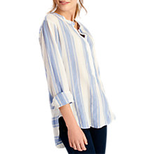 Buy Joules Nicola Grandad Collar Printed Shirt, May Stripe Online at johnlewis.com