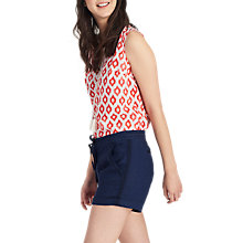 Buy Joules Kat Drawstring Linen Shorts, French Navy Online at johnlewis.com
