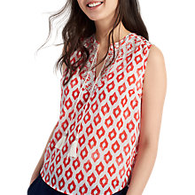 Buy Joules Otille Printed Top, Soft Coral Ikat Online at johnlewis.com