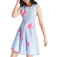 Buy Joules Amelie Dress, Sky Blue Orchid Online at johnlewis.com