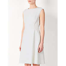 Buy John Lewis Textured Jersey Dress, White Online at johnlewis.com